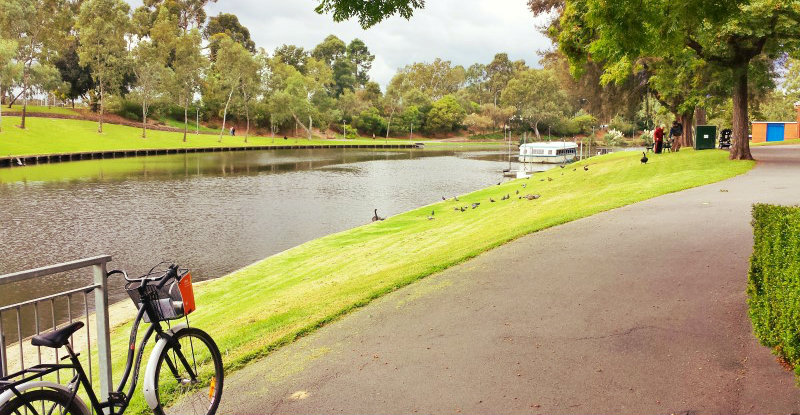An adelaide riverview bike riding park