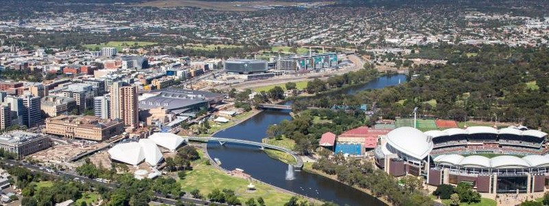 Arial view of Adelaide city
